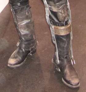 wearing boots